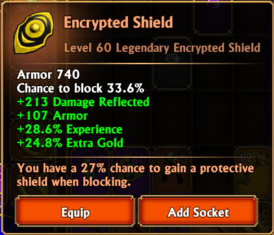 Encrypted shield