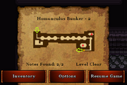 Homunculus Bunker - Silver (notes)
