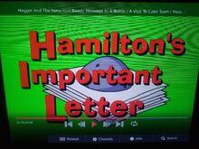 Hamilton's Important Letter
