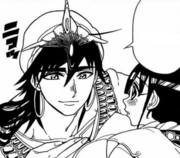 Sinbad tranquiliza a Kougyoku