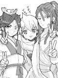 Kassim, Alibaba and Hakuryuu