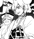 Alibaba with ship's captain
