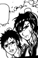 Hakuyuu and Hakuren in the fire