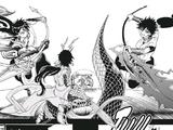 Aladin, Ali Baba, Judar & Hakuryu vs. Baal-Sindbad