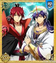 Kouen and Sinbad card SSR