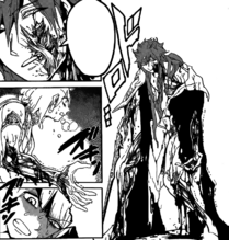 Kouen injured by the doll
