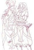 Hakuryuu and Nanaumi in Websunday Backstage Volume 262