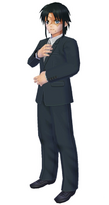 Aratanaru Sekai Hakuryuu in suit