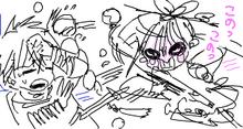 Kougyoku attacking Judar