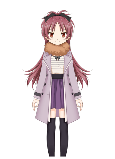 Sakura Kyouko Winter Clothes