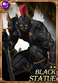 Black Statue full card