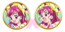 Yes! Pretty Cure 5 Cure Dream faces