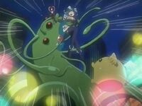 Magical Nin Nin Shinobu-chan fighting a monster
