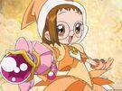 Ojamajo Doremi Motto Hazuki using her spell