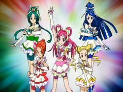 Yes! Pretty Cure 5 in the Opening 2