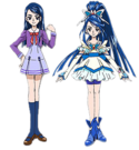 Yes! Pretty Cure 5 Karen and Cure Aqua pose