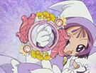 Ojamajo Doremi Sharp Onpu using her Royal Patraine spell