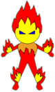 Magic Heart Monster 6 Pyro pose