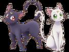 Sailor Moon Crystal Luna and Artemis pose