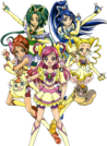Yes! Pretty Cure 5 Group pose