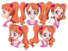Kira Kira Pretty Cure Ala Mode Ichika faces