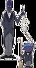 Futari wa Pretty Cure Butler Zakennas pose
