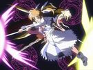 Mahou Shoujo Lyrical Nanoha Nanoha and Fate sealing a Jewel Seed