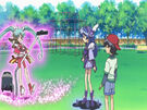 Sasami Mahou Shoujo Club Sasami and Misao using their magic2