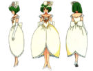 Wedding Peach Angel Daisy bride pose