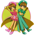 Card Captor Sakura Sakura and Syaoran pose3