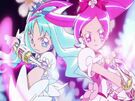 Heartcatch Pretty Cure! Cure Blossom and Cure Marine in the Floral Power Fortissimo attack