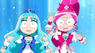 Pretty Cure All Stars DX2 Cure Blossom and Marine Suprised