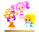 Gdgd Youseis Pikupiku, Shrshr and Korokoro pose3