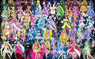 57 Pretty Cure Warriors with Fairies