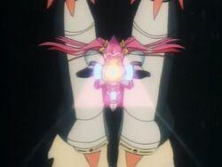 Chou Kousoku Gran Doll Gran using the Master Beam attack
