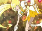 Heartcatch Pretty Cure! Cure Sunshine in the Gold Forte Burst attack