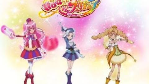 Balala the fairies over the rainbow transformation with Hugtto Precure music