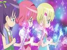 Lilpri Ringo, Leila and Natsuki summoning their wands 2