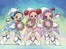 Ojamajo Doremi Sharp Royal Patraine Group transformation pose (without Hazuki)