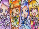 Doki Doki Special Heart, Diamond, Rosetta and Sword in the Lovely Force Arrow attack