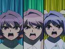 Magikano Maika, Tiaki and Fuyuno about to transform