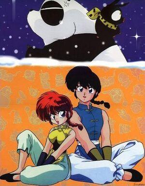 Ranma-1-2 Ranma Ranma-chan Genma P-chan