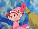 Ojamajo Doremi takes her broom