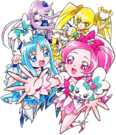 Heartcatch Pretty Cure! Cure Group pose