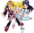 Pretty Cure Max Heart Movie1 Black, White and Luminous pose