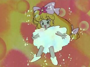 Hana no Mahou Tsukai Mary Bell in her transformation