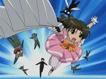 Mahou Shoujo Magical Mai using her weapon