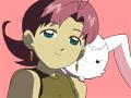 Cosmic Baton Girl Comet-san Spica face