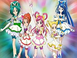 Yes! Pretty Cure 5 in the Opening