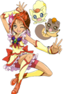 Yes! Pretty Cure 5 Cure Rouge, Coco and Natts